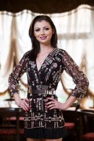 Rochie unicat Malvera Luxury neagra cu aplicatii scurta