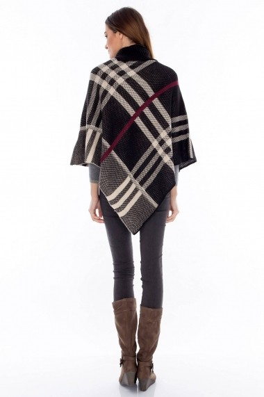 Poncho Roh Boutique JR216 negru