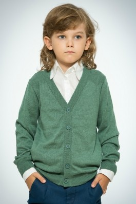 Cardigan verde cu cotiere Be You