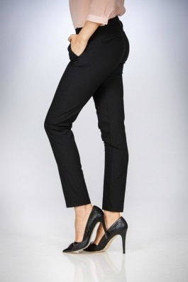 Pantalon Drept dama clasici negri Be You