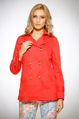 Trench dama rosu coral Be You