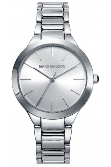 Ceas MARK MADDOX WATCHES mod. TRENDY SILVER MM6010-17 . 37.5 mm - WR 3 ATM - els