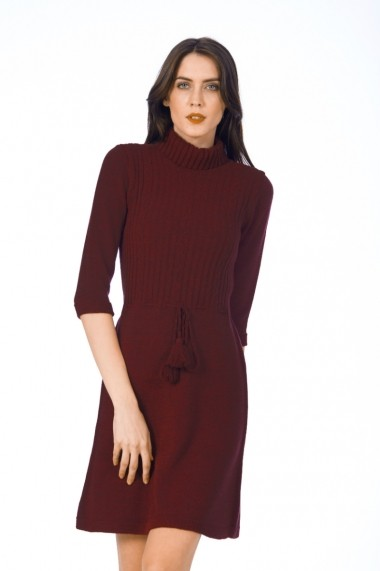 Rochie de zi Be You 0547 bordo
