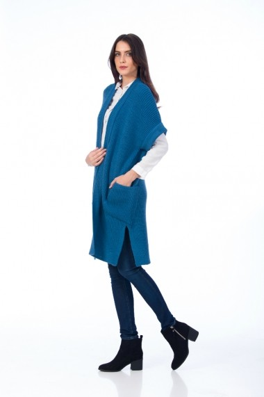 Cardigan Be You 0643 albastru