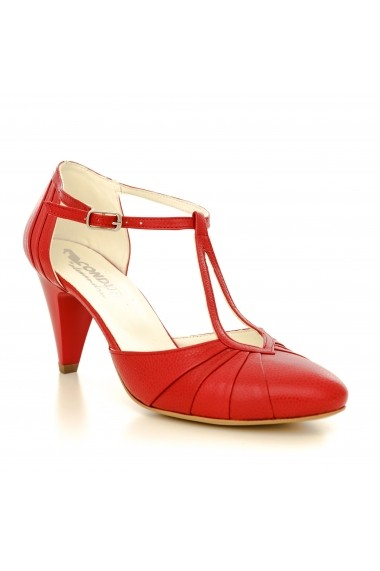 Pantofi cu toc CONDUR by alexandru 1008 rosu