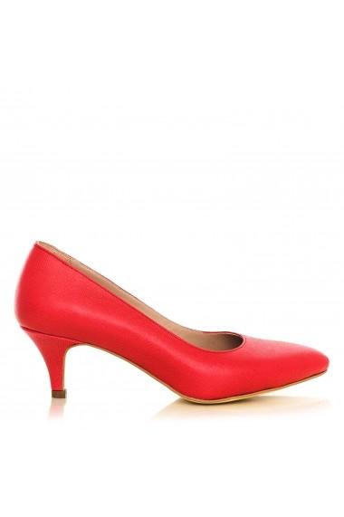 Pantofi cu toc CONDUR by 1200-print-rosu rosu