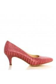 Pantofi cu toc CONDUR by alexandru 1200.2-croco-rosa roz