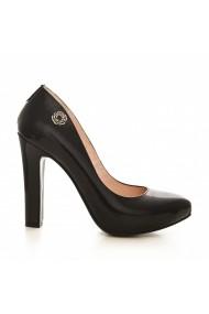 Pantofi cu toc CONDUR by alexandru 1240 lac negru