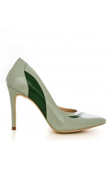 Pantofi cu toc CONDUR by alexandru 1401-lac menta cu verde