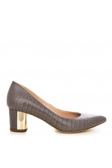 Pantofi cu toc CONDUR by alexandru 1416-presajcroco gri
