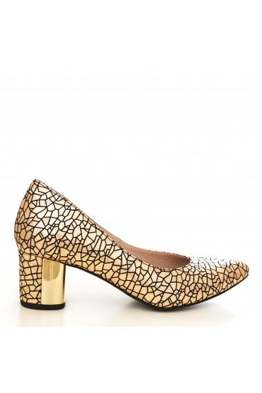 Pantofi cu toc CONDUR by alexandru 1416-print auriu T31 auriu