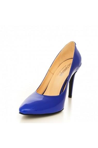 Pantofi cu toc CONDUR by alexandru 1422-lac albastru