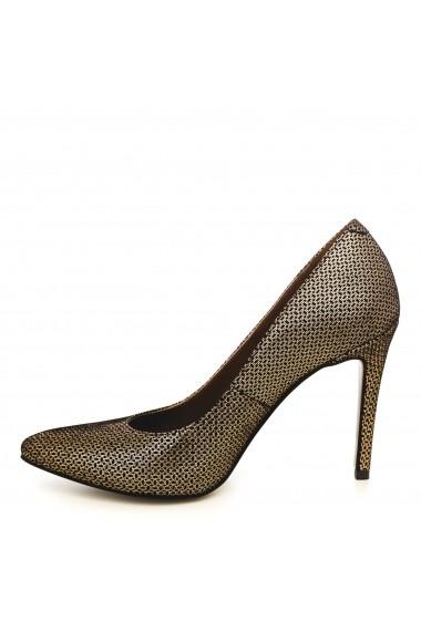 Pantofi cu toc CONDUR by alexandru 1422-negru cu auriu T26