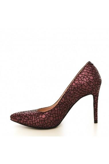 Pantofi cu toc CONDUR by alexandru presaj bordo