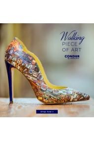 Pantofi cu toc CONDUR by alexandru 1501 gaudi