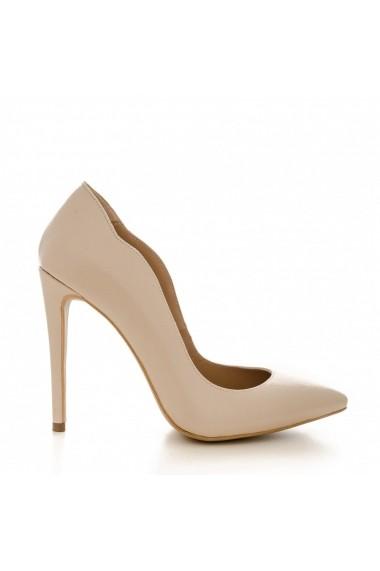 Pantofi cu toc CONDUR by alexandru 1501 kiko nude