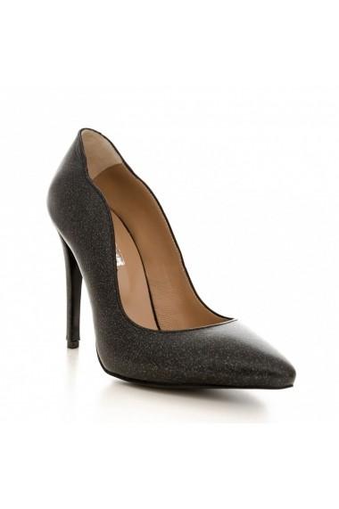 Pantofi cu toc CONDUR by alexandru 1501 negru sidef