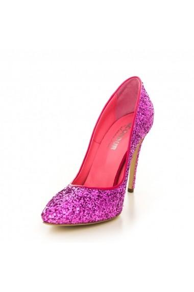 Pantofi cu toc CONDUR by alexandru glitter fuchsia