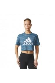 Tricou pentru femei Adidas  AEROKNIT CROP T W BQ5793