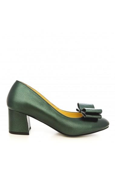 Pantofi cu toc CONDUR by alexandru 1606-bottalato verde