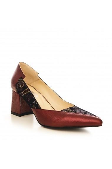 Pantofi cu toc CONDUR by alexandru 1613 bordo
