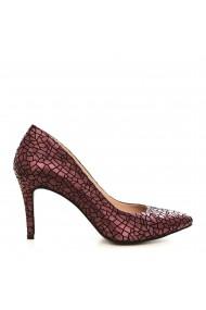 Pantofi cu toc CONDUR by alexandru 1619-antilopa-bordo-T25 bordo