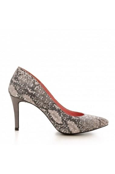 Pantofi cu toc CONDUR by alexandru 1619 presaj rosa