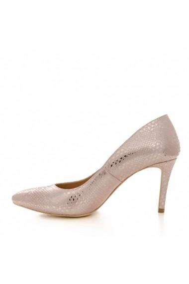 Pantofi cu toc CONDUR by alexandru 1619 presaj roze