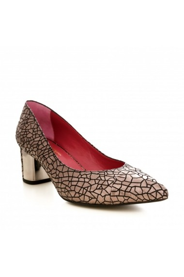 Pantofi cu toc CONDUR by alexandru 1705 antracite