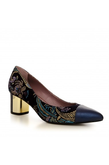 Pantofi cu toc CONDUR by alexandru 1705 bleumarin