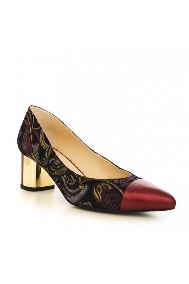 Pantofi cu toc CONDUR by alexandru 1705 bordo