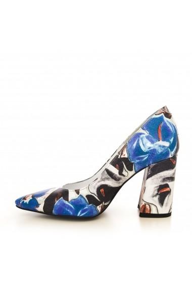 Pantofi cu toc CONDUR by alexandru 1710 albastru