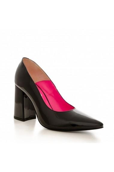 Pantofi cu toc CONDUR by alexandru 1710 lac negru