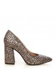Pantofi cu toc CONDUR by alexandru 1710-presaj antracit T28 gri