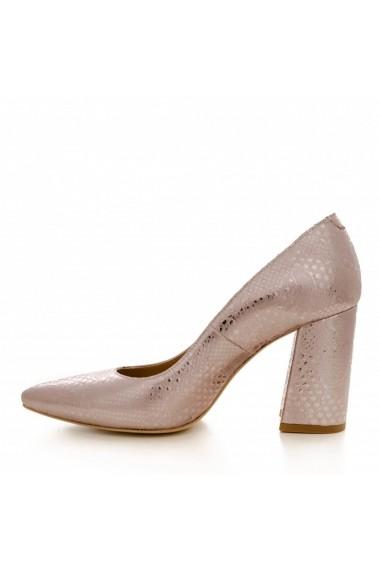 Pantofi cu toc CONDUR by alexandru 1710 presaj roze