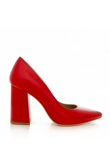 Pantofi cu toc CONDUR by alexandru 1710 rosu