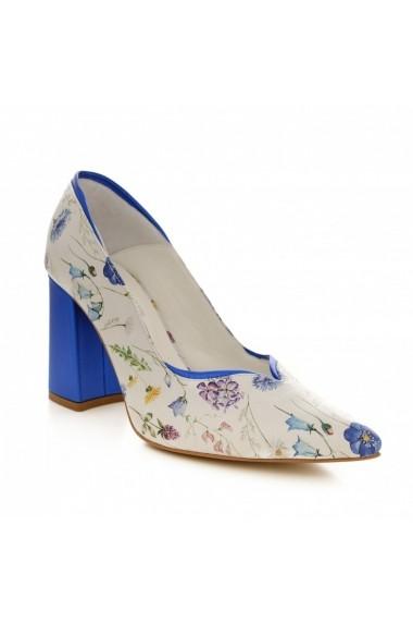 Pantofi cu toc CONDUR by alexandru 1711 albastru