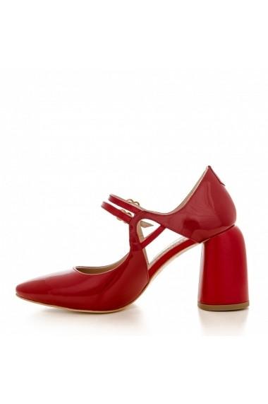 Pantofi cu toc CONDUR by alexandru 1808 lac rosu