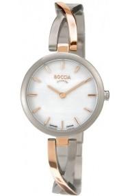 Ceas Boccia 3239-02, bicolor, titan, carcasa 27mm