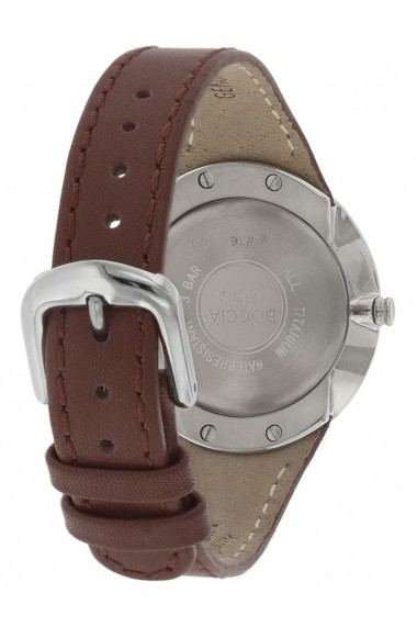 Ceas Boccia 3276-01, carcasa titan, 32mm, curea piele maro