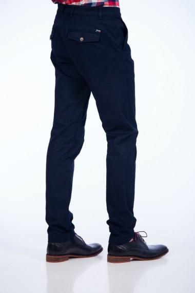 Pantaloni Be You bleumarin cu buzunare cu clape 3314