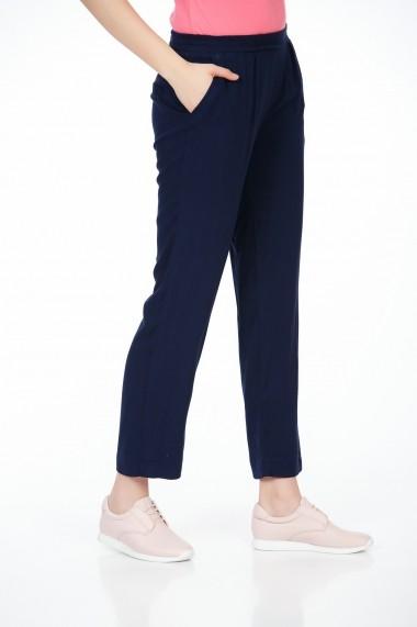 Pantaloni largi Be You 3318 bleumarin