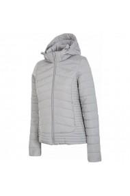 Jacheta pentru femei 4f  W H4Z17-KUD004 jasny szary melanż