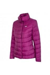 Jacheta pentru femei 4f  W H4Z17-KUD009 fiolet purpurowy