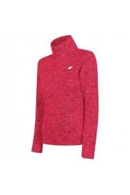 Bluza pentru femei 4f  W H4L19-PLD002 62M czerwony melanż
