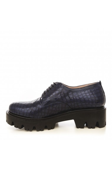 Pantofi CONDUR by alexandru 701-croco bleumarin