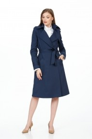 Trench BE YOU 9382 albastru