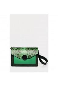 Geanta din piele naturala Anna Fellini Arina verde