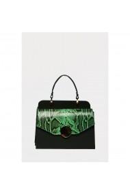 Geanta din piele naturala Anna Fellini Felicia verde