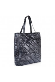 Geanta din piele naturala Anna Fellini Shopping bag 2 matlasat negru